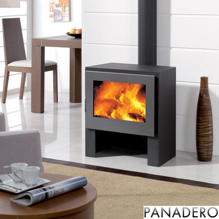 panadero boston 11kw contemporary wood burning stove