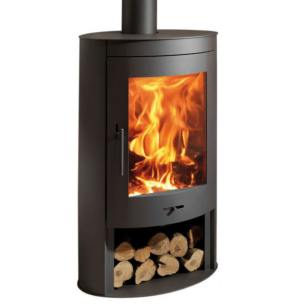 Panadero Oval 11kw Contemporary Wood Burning Stove 163