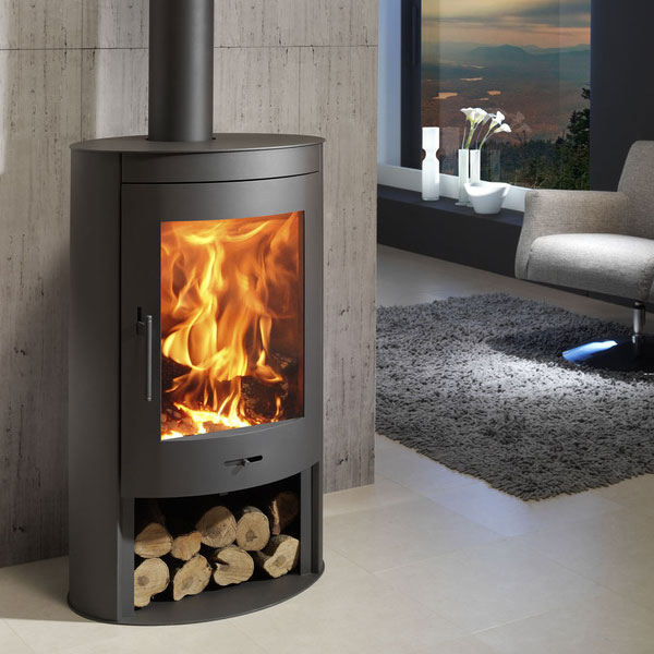 panadero oval 11kw contemporary wood burning stove. Black Bedroom Furniture Sets. Home Design Ideas