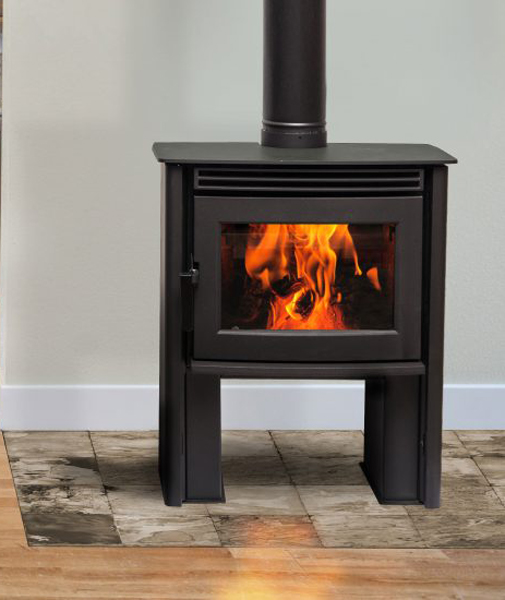 Pacific Energy Neo 1.2 - 5kw Wood Burning Stove - Long Legs - Small Wood Burning Stoves - 4kw-6kw Multi-fuel Wood Burners