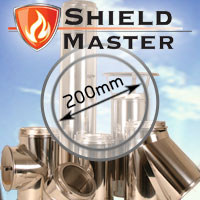 "8"" (200mm) Shieldmaster Twin Wall Flue Pipe"