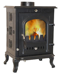 The Slowburn Aspect 5kw Wood Stove And Complete Flue Kit