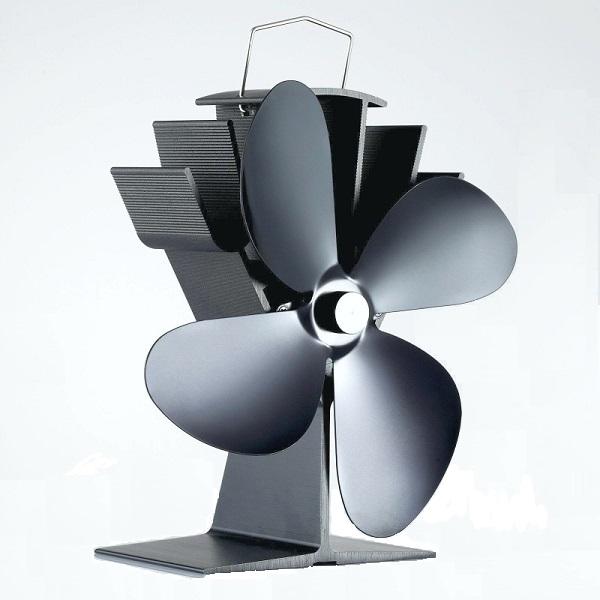 stove fan. woolly mammoth swift stove fan - black