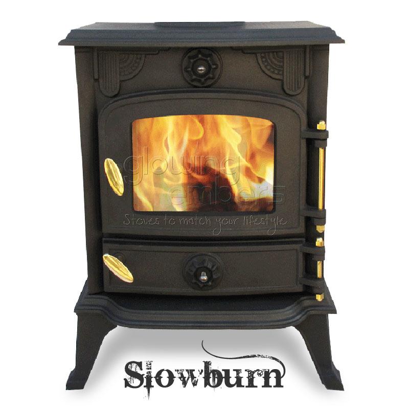 Cast Iron Wood Burning 5kw Multifuel Stove Slowburn Z2