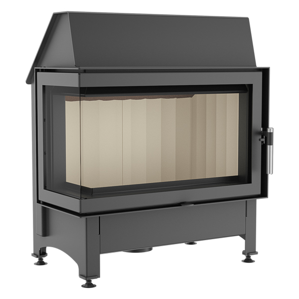 Kratki Zibi 11kw Inset Wood Burning Stove With Side Glass