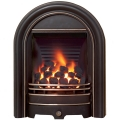 Be Modern Abbey Deepline Inset Gas Fire - Black Highlight 3.5kw
