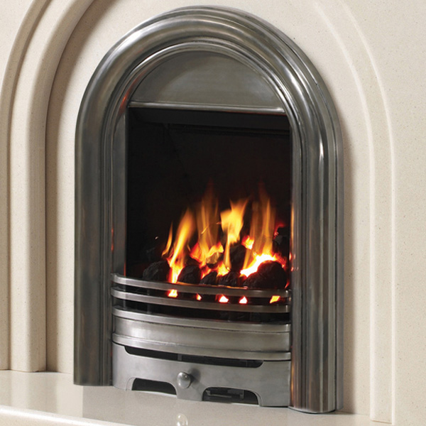 Be Modern Abbey Deepline Inset Gas Fire - Fully Polished 3.5kw