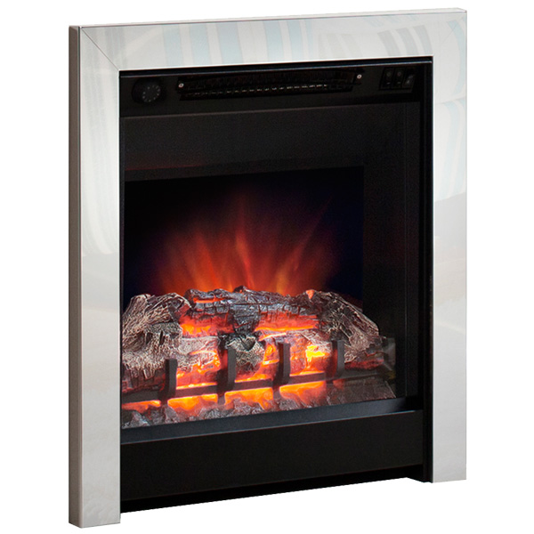 Be Modern Athena Inset LED Electric Fire - Chrome/Black