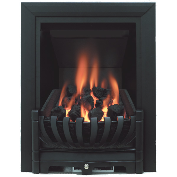 Be Modern Avantgarde Deepline Inset Gas Fire - Black 3.5kw