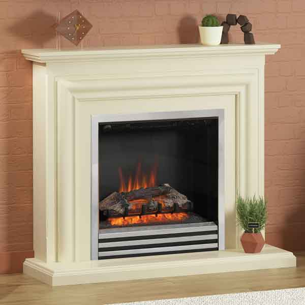 Be Modern Carina Ivory Electric LED Fireplace