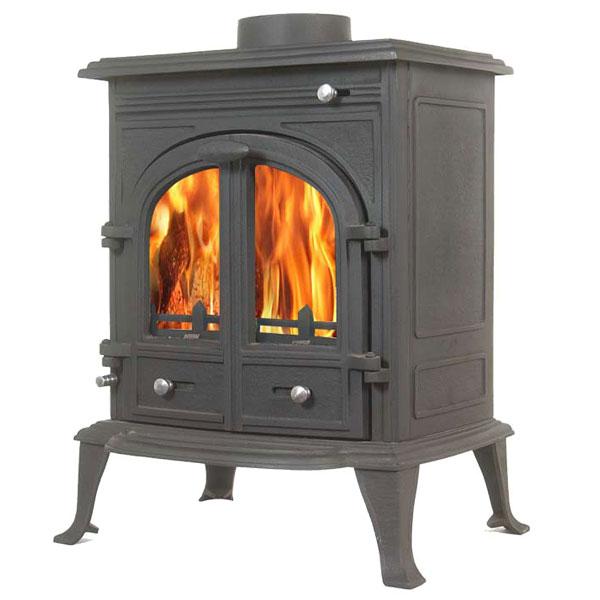 Wood Burning Stove : The Bernese 12kw Multifuel Wood Burning Stove