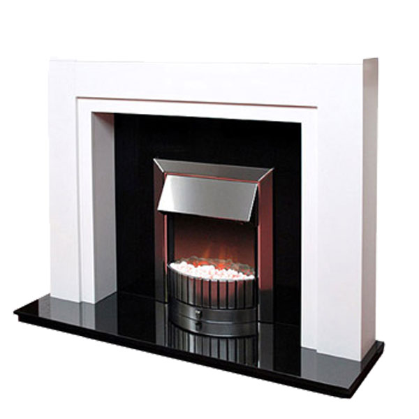 White Fire Surround Part - 22: Prestige Boxster Hand Crafted Solid Wood Fire Surround - White