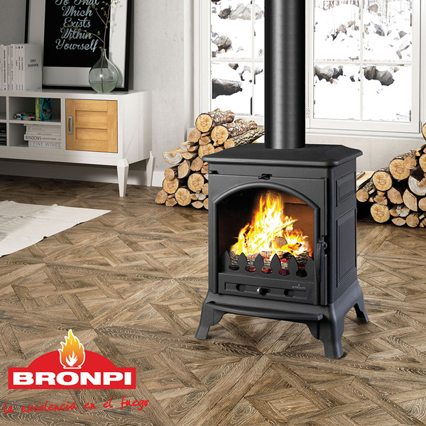 Bronpi Ordesa 10kw Multifuel Wood Burning Stove 163 879 28