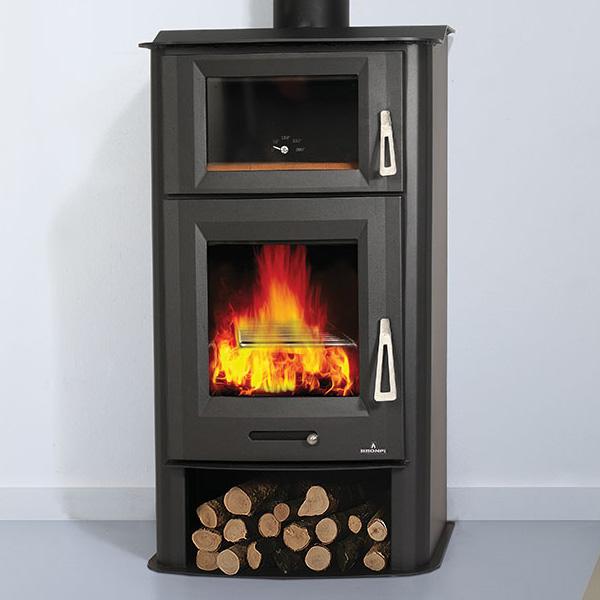 Bronpi Tudela 13kw Wood Burning Stove With Oven 163 856 37