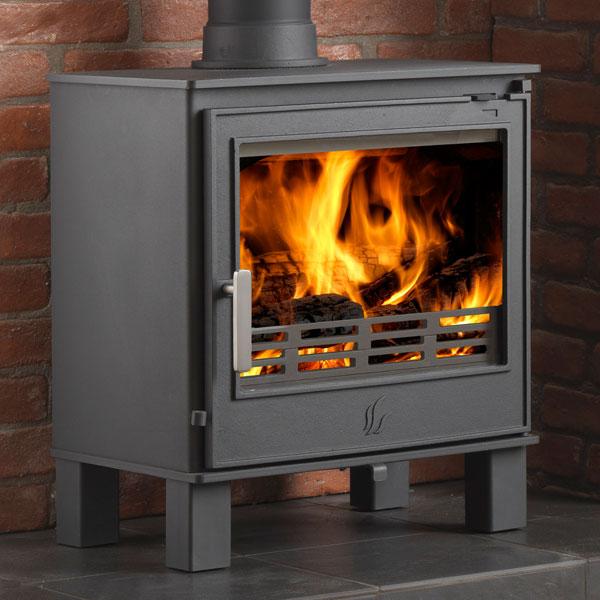 Wood Burning Stove : ACR Buxton 7kw Steel Defra Multifuel Wood Burning Stove