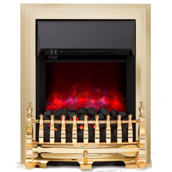 Be Modern Camberley Inset LED Electric Fire - Brass