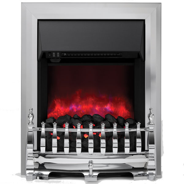 Be Modern Camberley Inset LED Electric Fire - Chrome