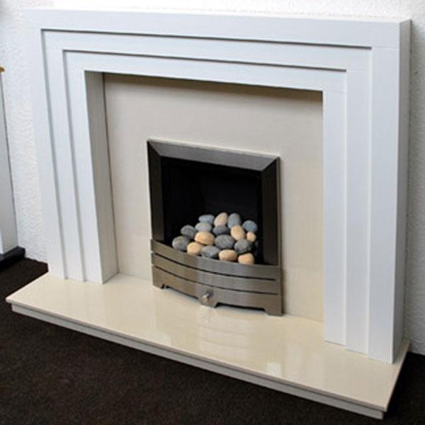 White Fire Surround Part - 19: Prestige Cambridge Hand Crafted Solid Wood Fire Surround - White