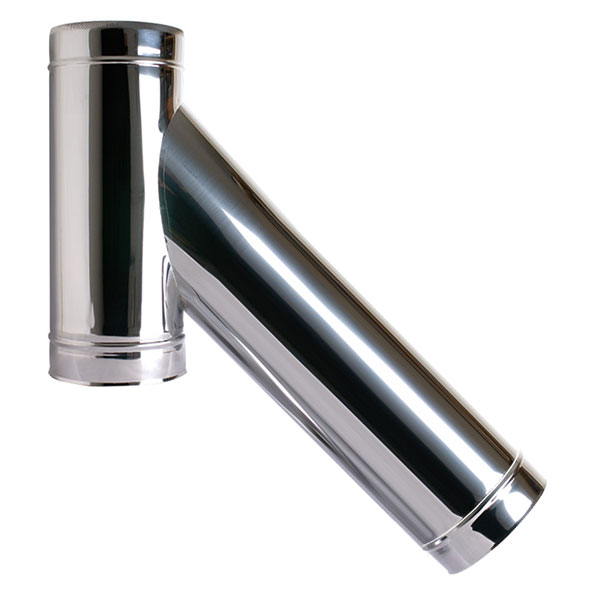 "6"" (150mm) 135° Long Tee Piece - Twin Wall Insulated Flue Pipe"
