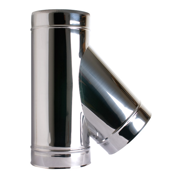 "6"" (150mm) 135° Tee Piece - Twin Wall Insulated Flue Pipe"