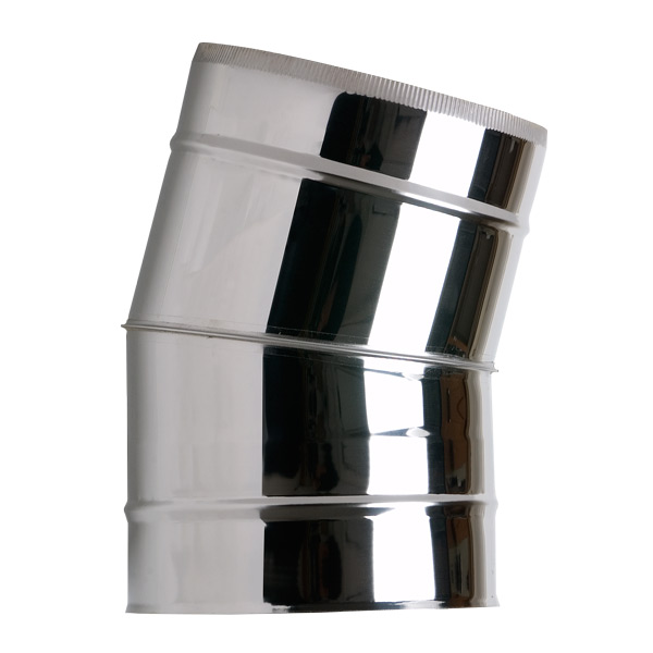 "6"" (150mm) 15° Elbow - Twin Wall Insualated Flue Pipe"