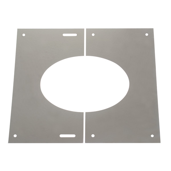 "6"" (150mm) 30-45° Finishing Plate - For Twin Wall Flue Pipe"