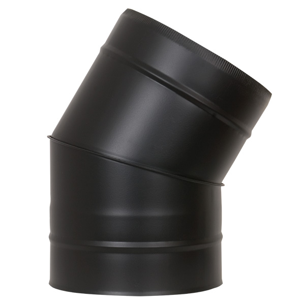 "5"" (125mm) 30° Elbow - Twin Wall Insulated Flue Pipe - Black"