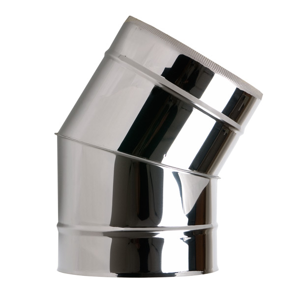 "6"" (150mm) 30° Elbow - Twin Wall Insulated Flue Pipe"