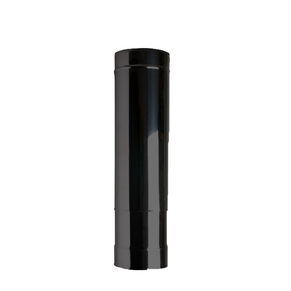 "5"" (125mm) 250mm-350mm Adjustable Length Of Twin Wall Insulated Flue Pipe - Black"