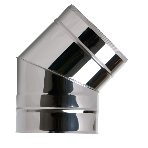 "6"" (150mm) 45° Elbow - Twin Wall Insulated Flue Pipe"