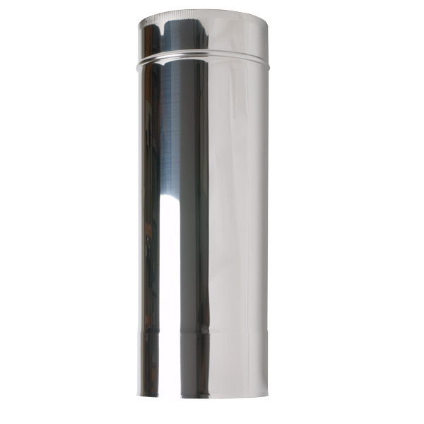 "6"" (150mm) 500mm Length Of Twin Wall Insulated Flue Pipe"