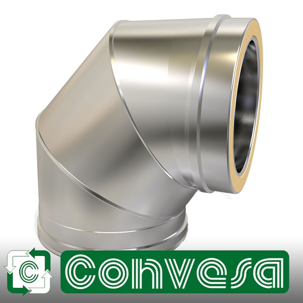 "5"" (125mm) Convesa KC Twin Wall Flue Pipe"
