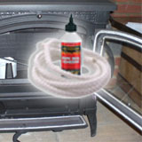 Stove Fire Rope and Adhesive