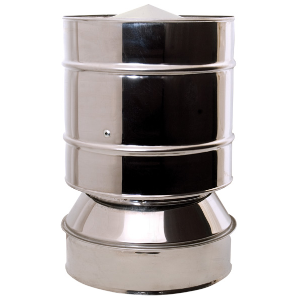 "6"" (150mm) Anti-Wind Cowl - Twin Wall Insulated Flue Pipe"