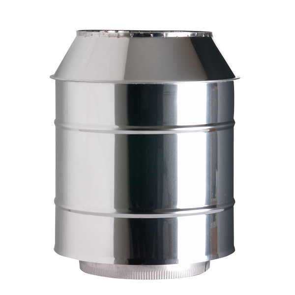 "6"" (150mm) Cone Top Cowl - Twin Wall Insulated Flue Pipe"