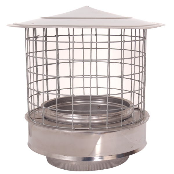 "6"" (150mm) Rain Cap Birdguard - Twin Wall Flue Pipe"
