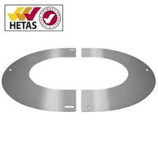 "6"" (150mm) 45° Round Finishing Plate - For Twin Wall Flue Pipe"