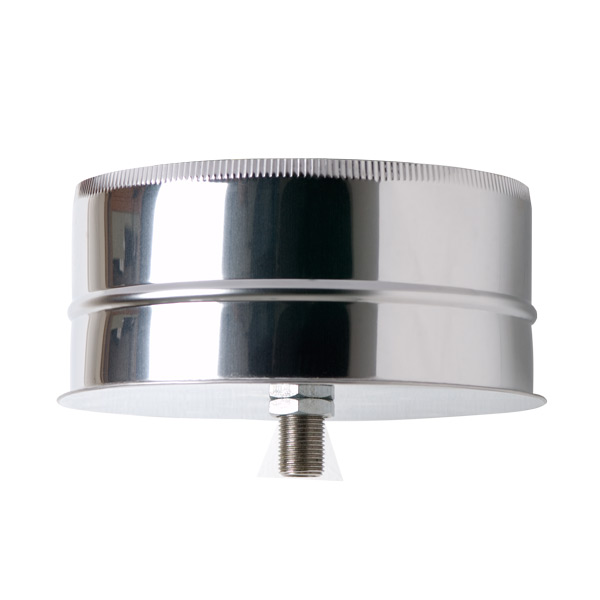 "6"" (150mm) Tee Cap With Drain - Twin Wall Insulated Flue Pipe"