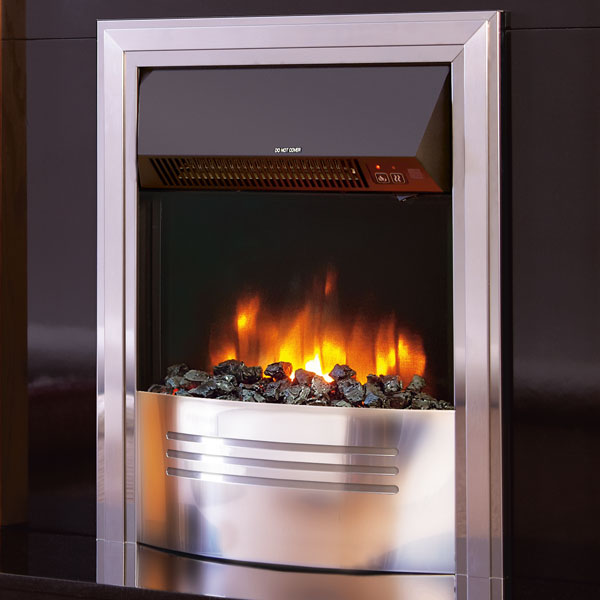 Celsi Accent Infusion 2kw Inset Electric Fire - Chrome & Satin Silver