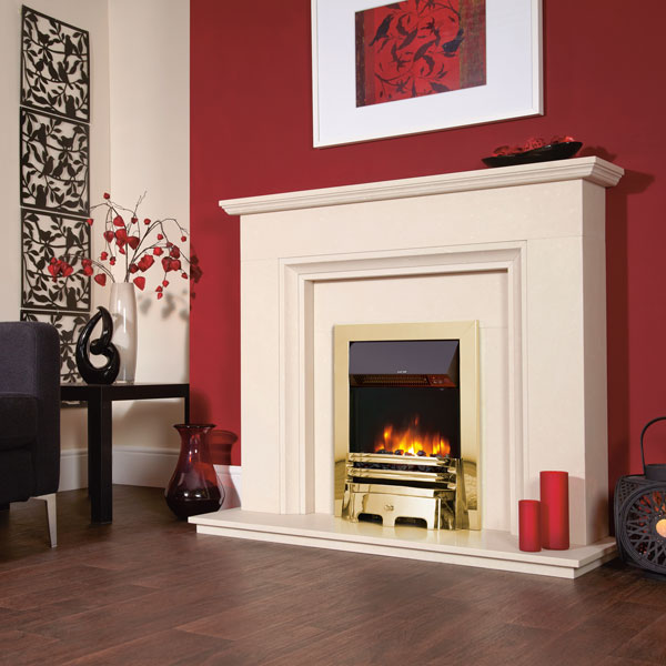 Celsi Accent Infusion 2kw Traditional Inset Electric Fire - Brass