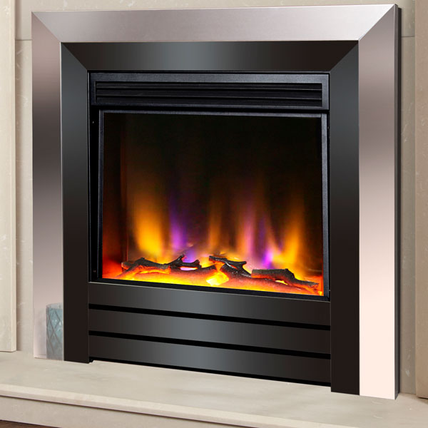 Celsi Electriflame VR Acero 1.5kw Inset Electric Fire - Chrome & Black Nickel