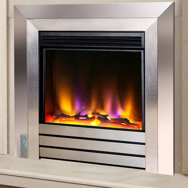 Celsi Electriflame VR Acero 1.5kw Inset Electric Fire - Chrome & Satin Silver