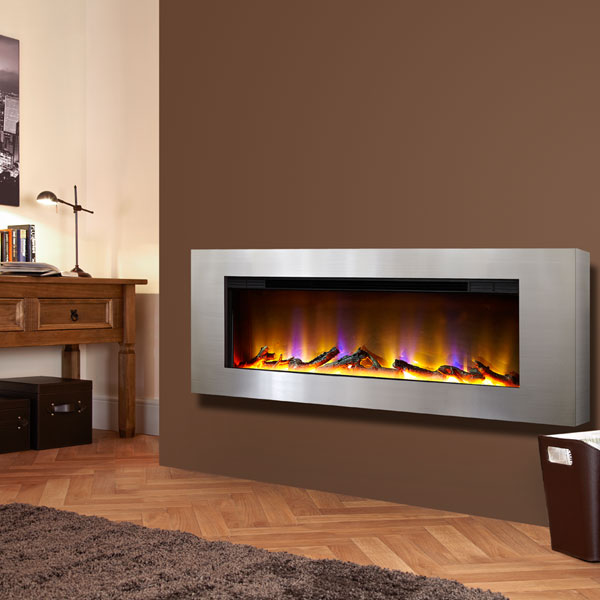 Celsi Electriflame VR Basilica 1.6kw Inset Electric Fire - Silver