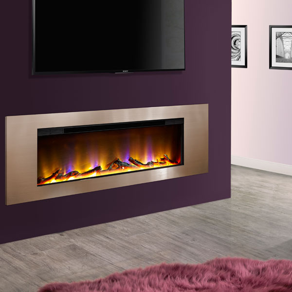 Celsi Electriflame VR Metz 1.6kw Inset Electric Fire - Champagne