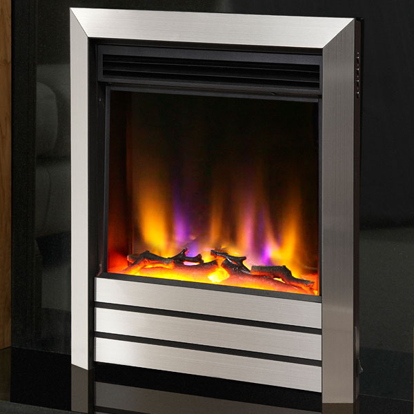 Celsi Electriflame VR Parrilla 1.5kw Inset Electric Fire - Silver
