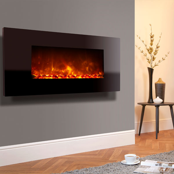 Celsi Electriflame XD 1100 1.5kw Wall Mounted Electric Fire - Piano Black Glass