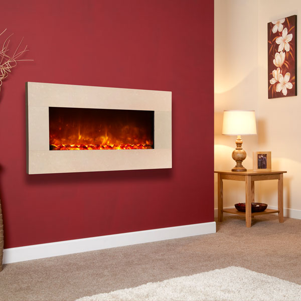 Celsi Electriflame XD 1100 Royal Botticino 1.5kw Wall Mounted Electric Fire