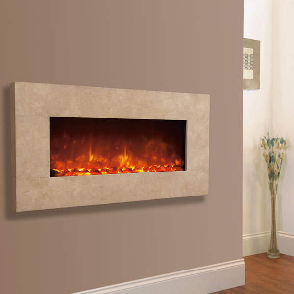 Celsi Electriflame XD 1300 Travertine 1.5kw Wall Mounted Electric Fire