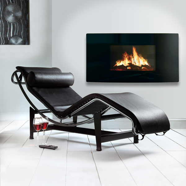 Celsi Puraflame 2kw Curved Wall Mounted Electric Fire