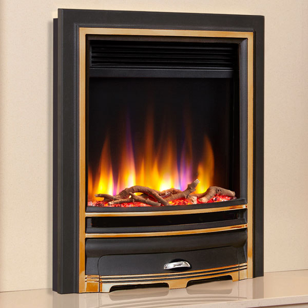 Celsi Ultiflame VR Arcadia 1.5kw Electric Fire - Black with Gold